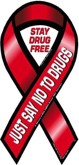 Drug Addiction Awareness Ribbon | Don't Do Drugs ...