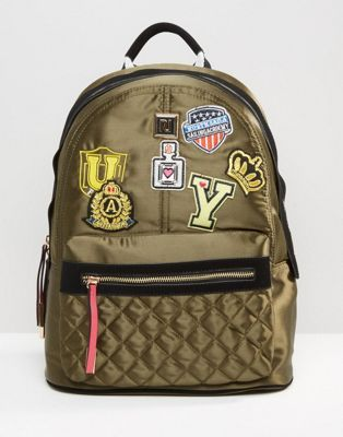 River Island Backpack With Badging