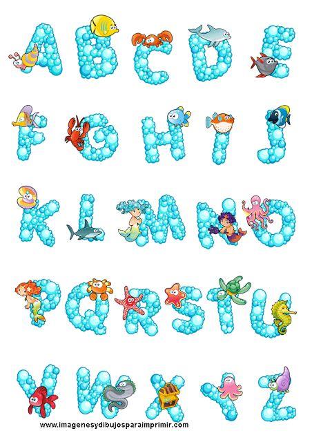 Letras con dibujos para imprimir decoracion pinterest - Letras decorativas infantiles ...