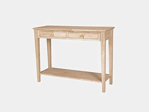 Wood Console Table With 1 Shelf Console Table With 2 Drawers Unfinished Wood Console Table Wood Console Console Table