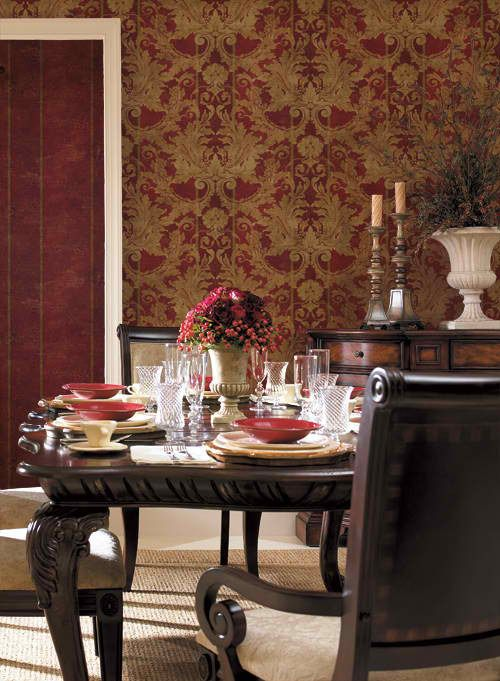 interior place gold aidi damask wallpaper
