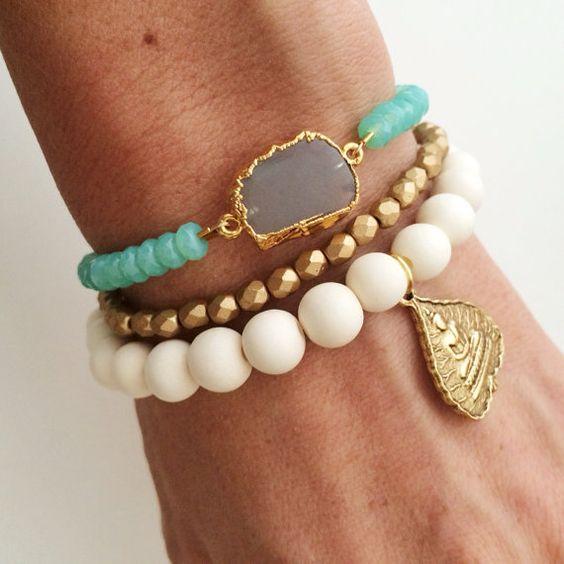 Summer Love Bracelet Stack by dAnnonEtsy on Etsy, $58.00: