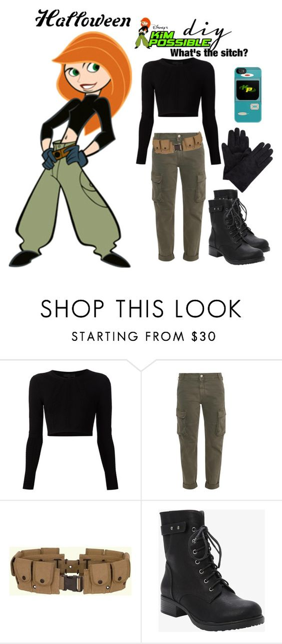 """Kim Possible DIY costume"" by starspy ❤ liked on Polyvore featuring Disney, Cushnie Et Ochs, STELLA McCARTNEY, Torrid, Halloween, kimpossible, halloweencostume and diycostume:"