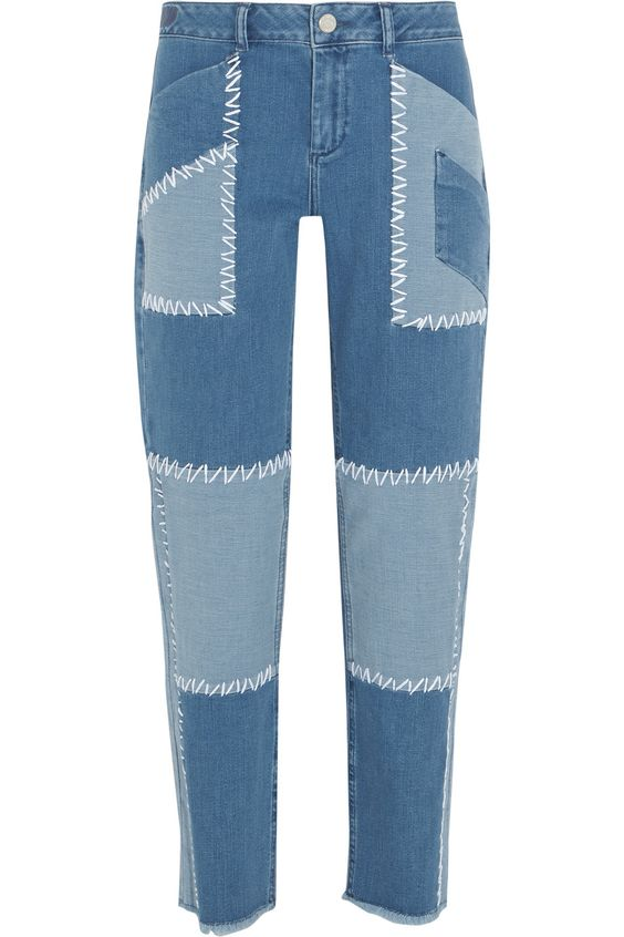 HOUSE OF HOLLAND Patchwork high-rise boyfriend jeans. #houseofholland #cloth #jeans