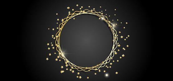 إطار ذهب مستدير Gold Circle Frames Frame Border Design Gold Frame