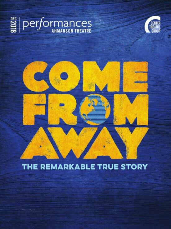 Theatre Programme For The Premiere Los Angeles Production Of The Irene Sankoff David Hein Musical Come From Away Come From Away Musicals Broadway Posters