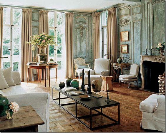 Living Room Of Belgian Clothier Edouard Vermeulen The