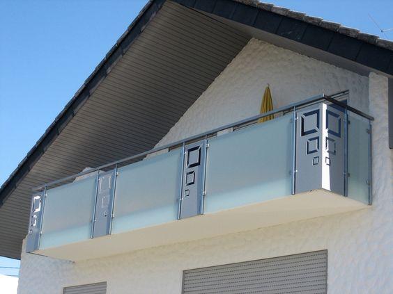 Geländer mit Glas und Blech Balkongeländer Pinterest - terrassen gelander design