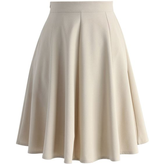Chicwish Closet Essential A-line Skirt in Apricot ($42) ❤ liked ...