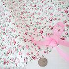 MOLLY -  WHITE/ PINK  COTTON FABRIC shabby FLORAL chic