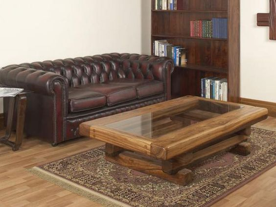 stunning coffee table from railway sleepers