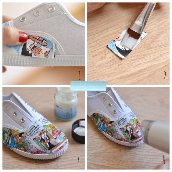 Como customizar unas zapatillas paso a paso customizar for Como decorar unas