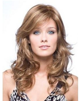 High Quality Long Lace Front Wavy 100% Human Hair Wig