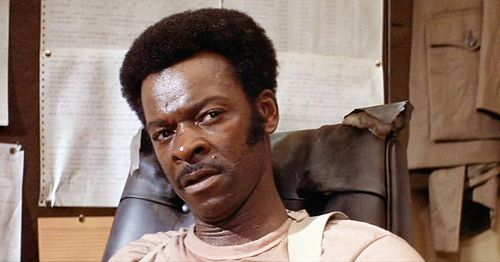 "Brock Peters as Chief Hatcher in ""Soylent Green"".  He is also known in the sci-fi genre for roles in both the Star Trek and Battlestar Galactica franchises. http://www.imdb.com/name/nm0676349/"