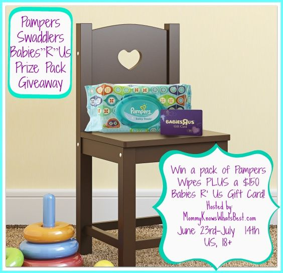 Enter to win a pack of Pampers wipes PLUS a $150 Babies R' Us gift card!! #sponsored
