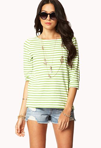 Essential Striped Tee | FOREVER 21 - 2042198609 $8