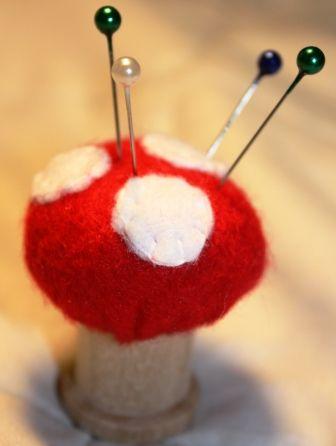mushroom pin cushion
