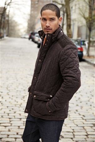 Brown Wool Mix Quilted Jacket | For Men | Pinterest | Shops Brown