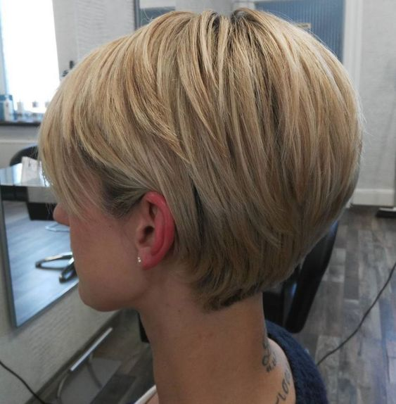 Long Tapered Blonde Pixie