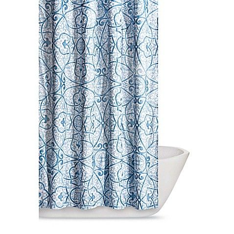 Truly Soft Marcello Shower Curtain In Blue Gray Shower Curtains Blue Shower Curtains Printed Shower Curtain