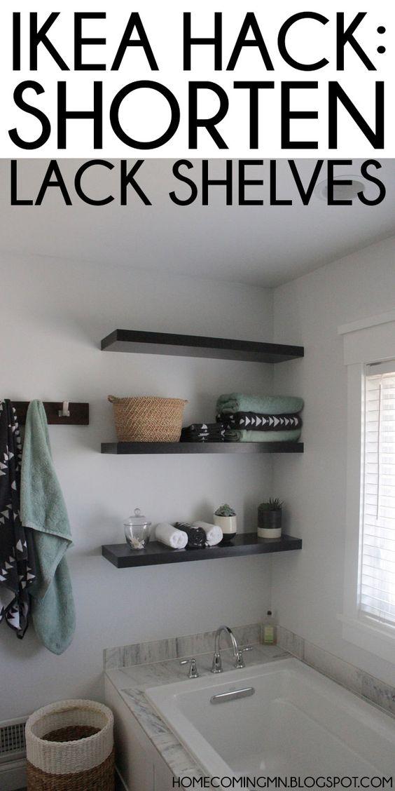 Ikea Hack: Shortening Lack Shelves; Don't care about the hack, but like the shelving idea