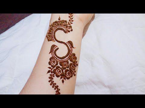Beautiful Tattoo Mehndi Design Alphabet S Mehndi Design Youtube Henna Designs Hand Mehndi Designs For Beginners Mehndi Designs