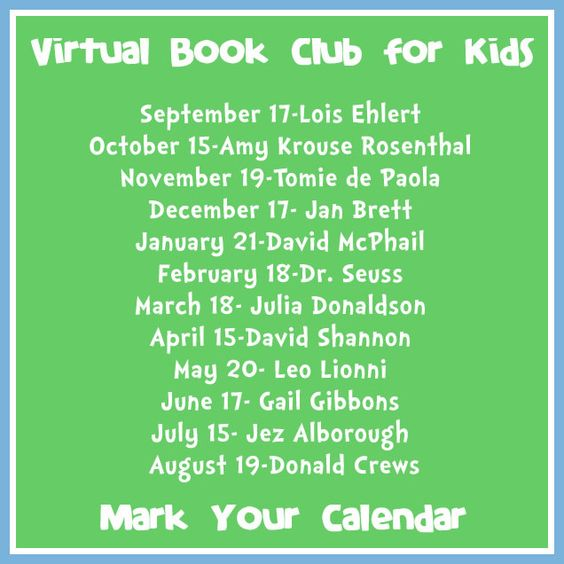 The Educators' Spin On It: Announcing our Year Long Virtual Book Club for Kids! Make your Calendars and come join the fun each month!  Here's your chance to bring a book and teacher created ideas right into your home for your child each month!