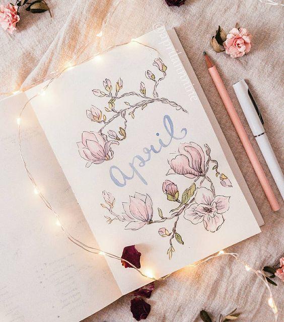 Idée de page mensuelle florale
