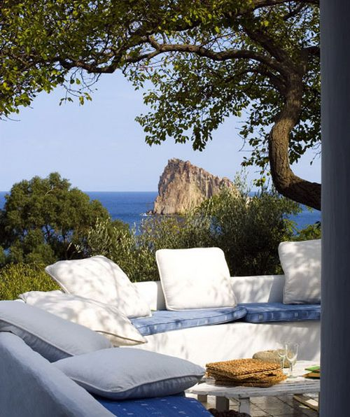 a summer home on panarea, italy by the style files