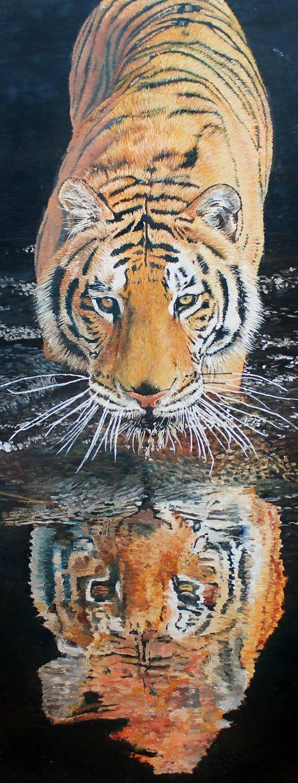 """Saatchi Art Artist Wesley Joubert; Painting, """"Stealthy Tiger"""" #art"""