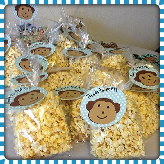Monkey Baby Shower Party Favors: Popcorn Favors, Ready To Pop And Popcorn On Pinterest