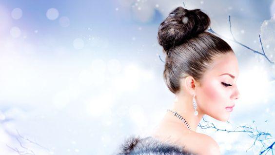 Winterlicher Dutt #schnee #dutt #schneekönigin  http://www.haarblog.de/schone-weihnachtsfrisuren/