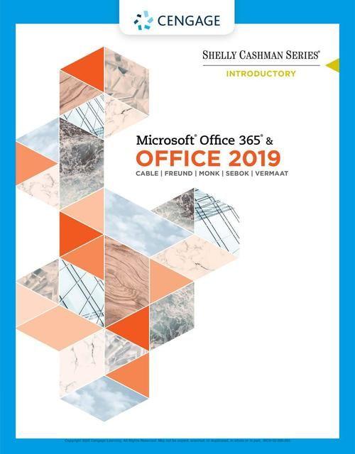 30 Pdf Shelly Cashman Series Microsoft Office 365 Office 2019 Introductory In 2020 Microsoft Office Microsoft Office 365