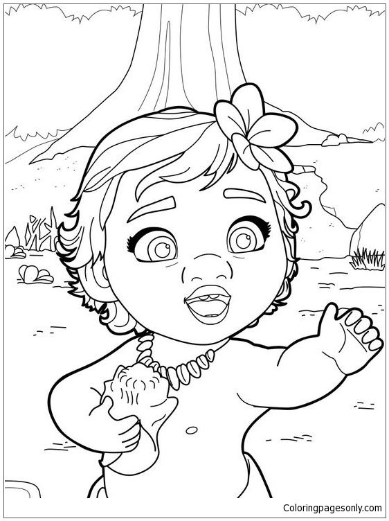 Moana Coloring Pages Online Background