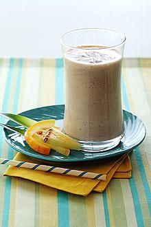 Here's a simple and delicious way to add protein to fresh fruit and juice.