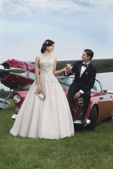 Lace Ivory Ballgown   Justin Alexander Spring 2014 - The Gallery - Wedding Blog   Ireland's top wedding blog with real weddings, wedding dresses, advice, wedding ...