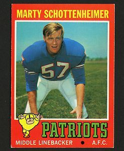 1971 TOPPS FOOTBALL #3 MARTY SCHOTTENHEIMER RC EXMT to NM ROOKIE - PATRIOTS @eBay! http://r.ebay.com/W74iyZ @toppscards #thehobby #collect