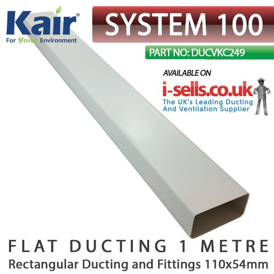 Pin On System 100mm Ducting And Fittings 110x54mm