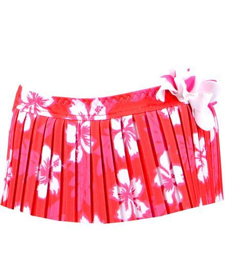 Culetín de bebé niña Redpoint rojo estilo hawaiano