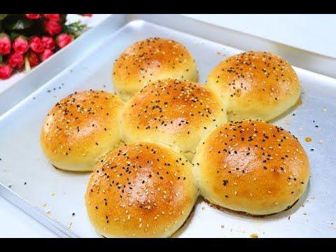 خبز صباحي تركي هش وخفيف جدا كالقطن بدون زبدة بعجينه أسفنجية سهلة كتير لأشهى فطور يومي بمكونات متوفرة Youtube Food Breakfast Hamburger Bun