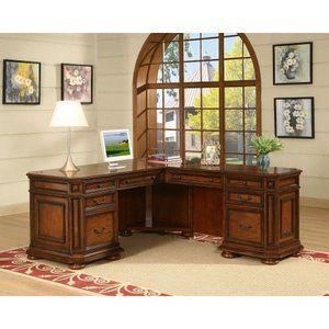 Riverside Cantata Executive L-Shaped Computer Desk