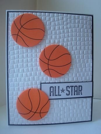 Basketball Card by AmylovesNormaJean - Cards and Paper Crafts at Splitcoaststampers