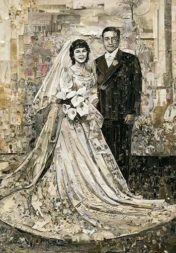 Vik Muniz - Wedding, Album, 2013 Digital C-Print