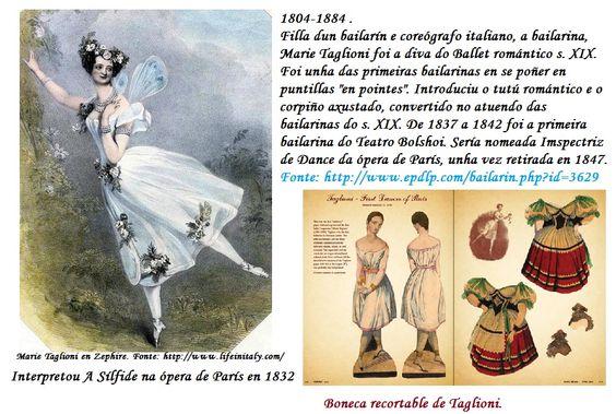 """Pin de Marie Taglioni, a """"sílfide"""" do Ballet romántico"""