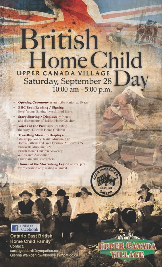 Anglo-Celtic Connections: British Home Children Day