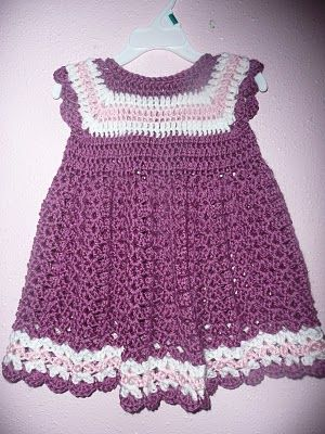 Free Crochet Baby Dress Patterns Childs Crocheted Dress ...
