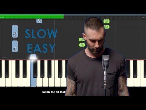 1 Maroon 5 Girls Like You Slow Easy Piano Tutorial Youtube