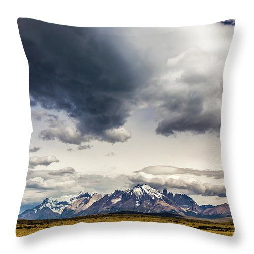 Clouds Over Torres Del Paine National Park Chile Throw Pillow By Lyl Dil Creations Throw Pillows Torres Del Paine National Park National Parks