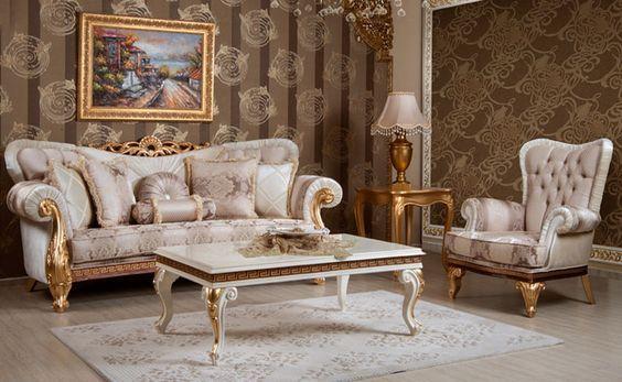 Classic Sofa Sets Luxury Seat Models Turkish Sofa Sets Set Sofa Desain Furnitur Mebel