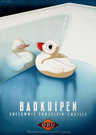 Vintage Bathtubs Advertising Poster